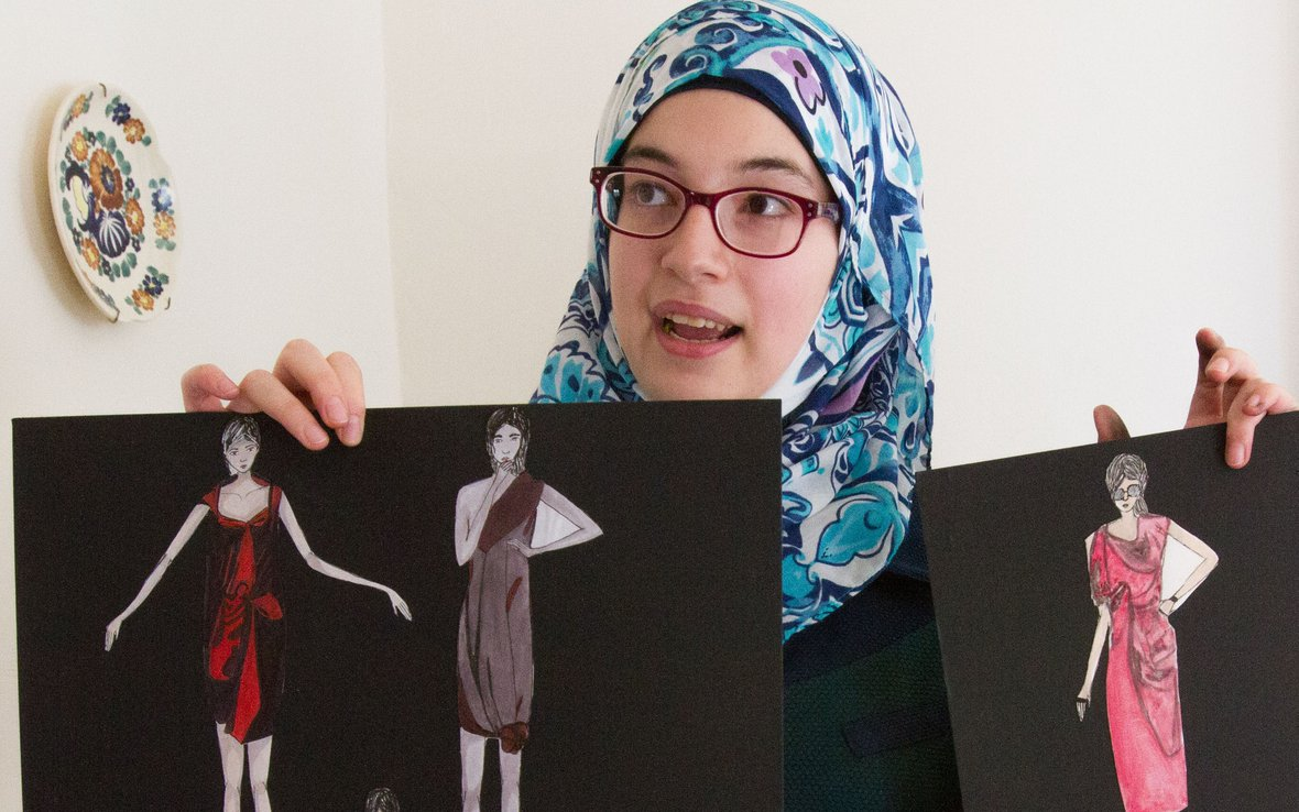 A Fashion Statement What This High School Student From Syria Did On Her Summer Vacation Oxfam