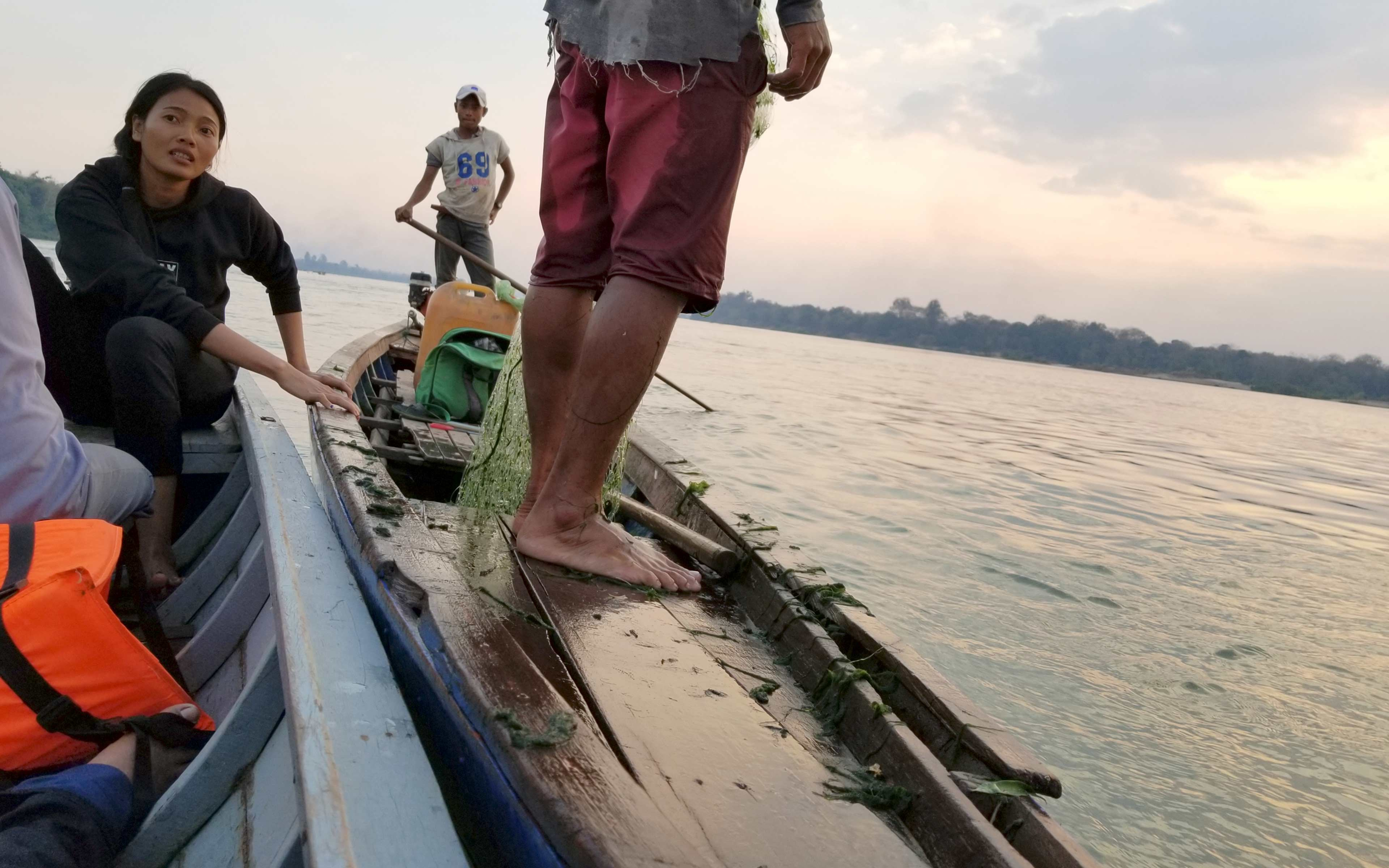 """Hong Rany leads patrols on the river to enforce fishing regulations. """"It's a tough job,"""" she says, """"But in the end, I like it. That's why I want to do it."""""""