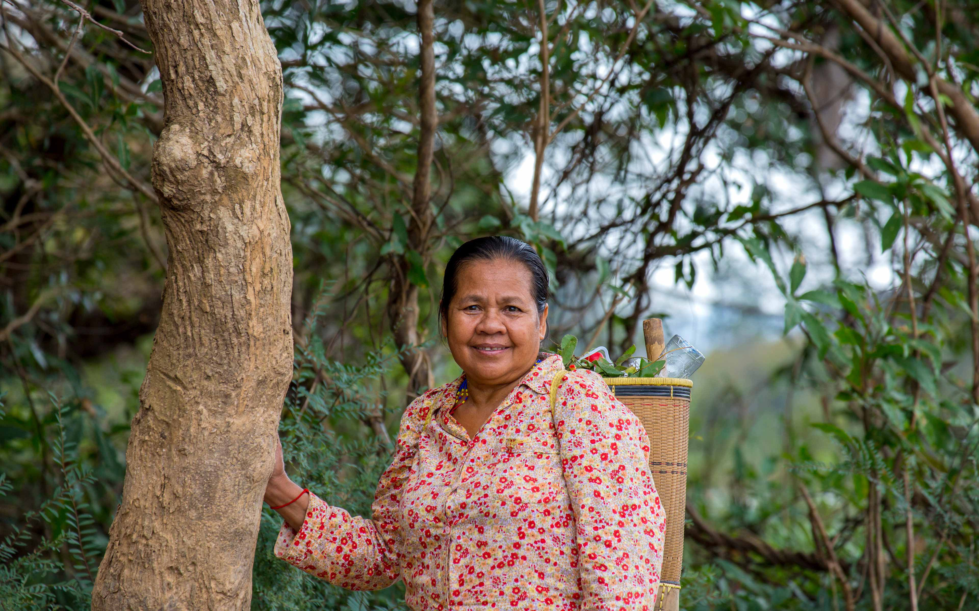 """Dam Chanthy, director of the Highlander Association:  """"When I heard the women in Padol led the community to stop the outsiders from cutting down the forest I was so happy, because it shows they understand their rights. We trained them in human rights and leadership, so I was happy to see them use all this training to protect their resources. I hope they can save their forest forever."""""""