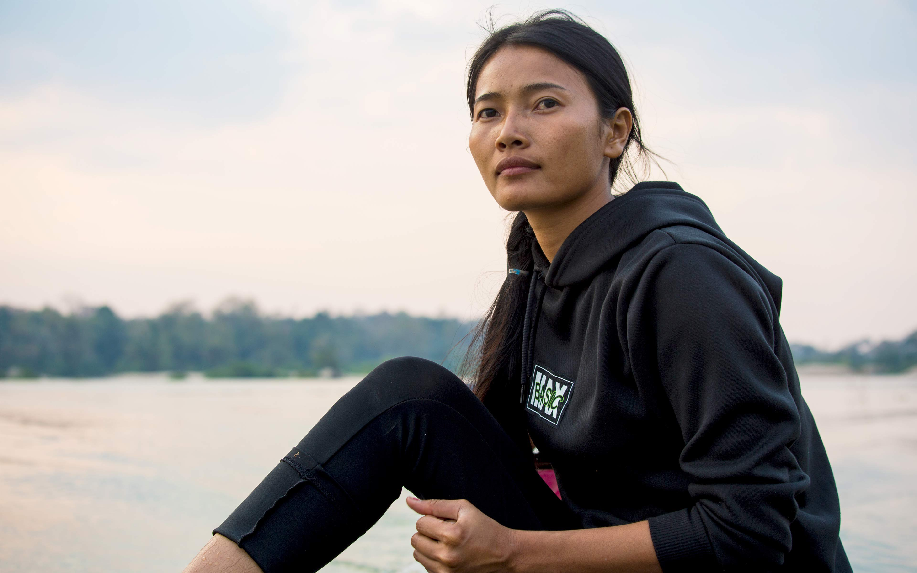 Hong Rany, 26, was elected leader of the Community Fishery committee in her village, Ksach Leav, in 2018. Male leaders in the village complained, claiming she was inexperienced and could not enforce fishing regulations because she is a woman. She worked with Oxfam's partner Northeast Rural Development to get the training she needs to lead the committee, and has proven to her critics she can do the job.