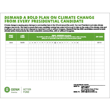Petition: Demand a bold plan on climate change from every presidential candidate
