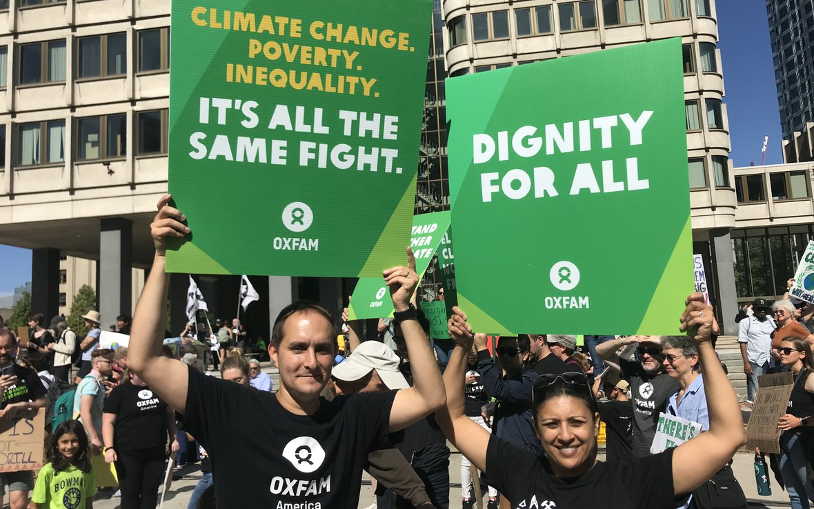 Oxfam Climate Protest