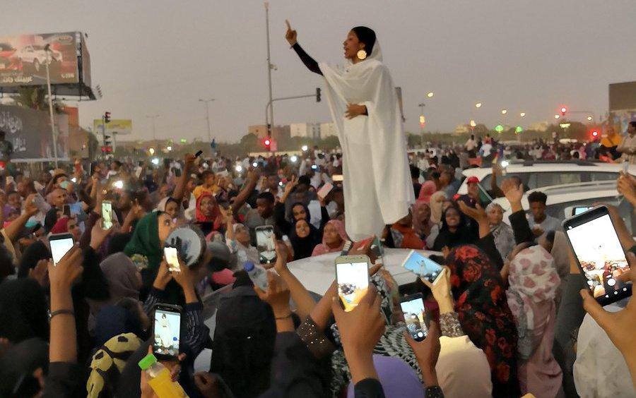 Lana Haroun photo - Sudan protests