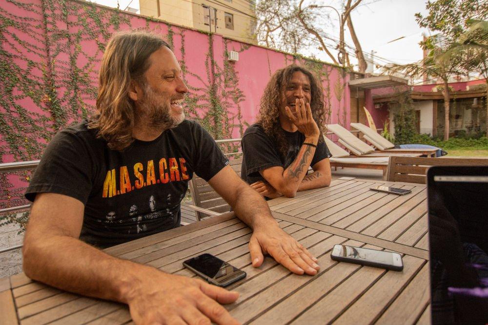 Coqui and Adrián in Lima, Peru.