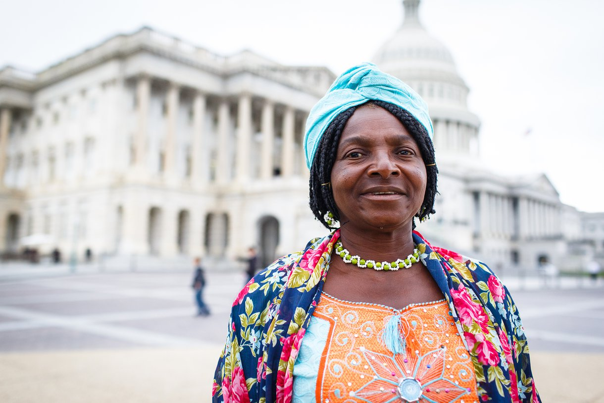 Monica Maigari, a finalist in Nigeria's Female Food Hero contest, went to Washington, DC, to help Oxfam advocate in Congress for legislation that will improve global humanitarian assistance for small-scale women farmers.