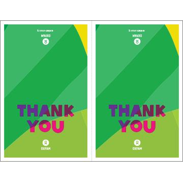 "Self-print thank you cards (4.25"" x 5.5"")"