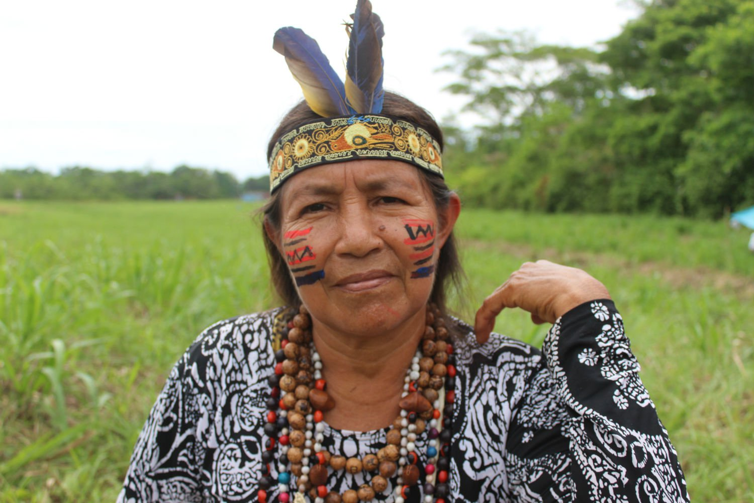 """Ermilda Tupuy, a Kichwa indigenous leader. """"Oil brings development to the government, not to our communities."""""""
