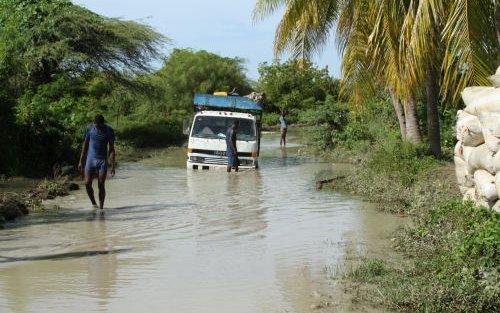 flooded road Grande-Saline