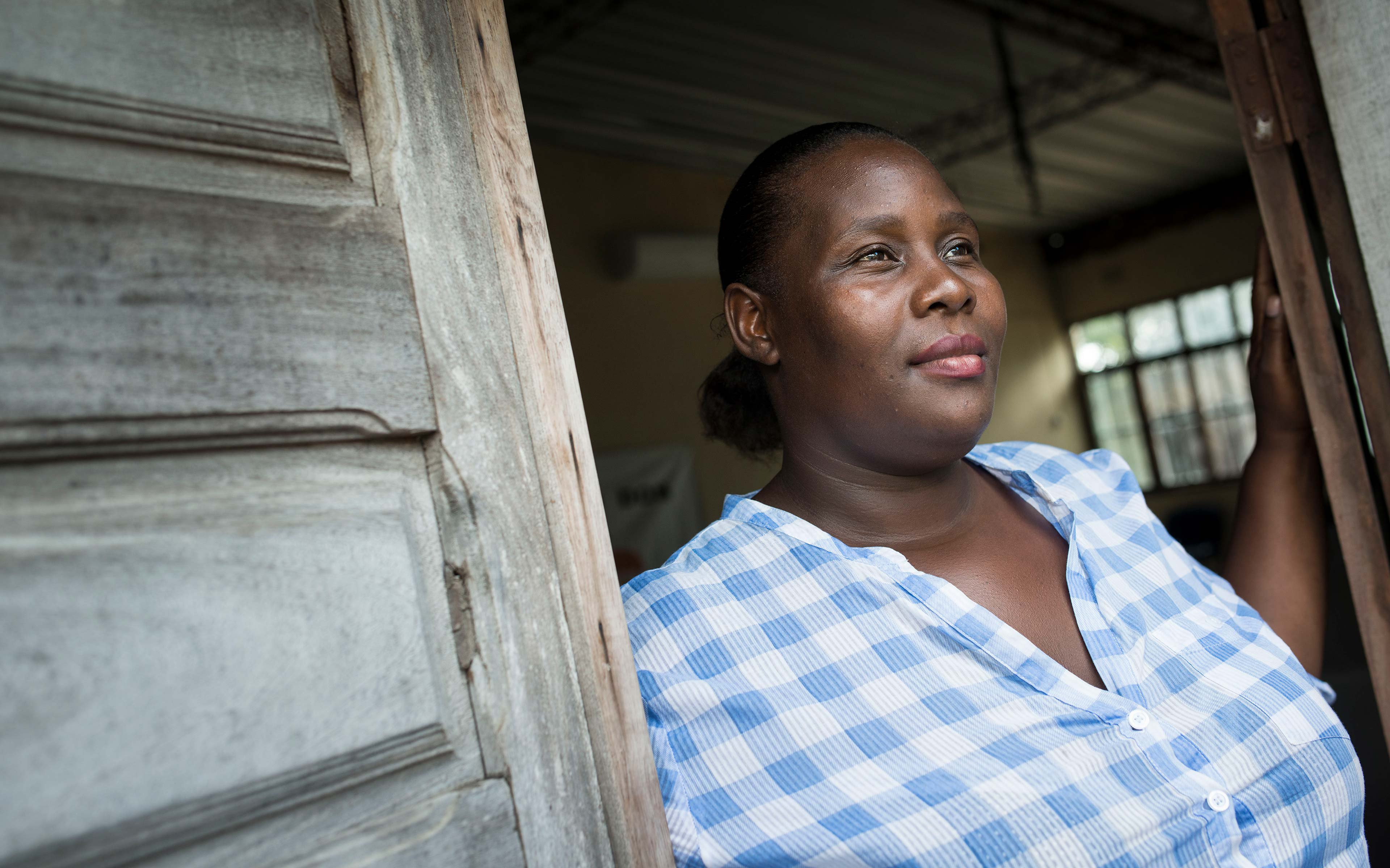 Dulce Narciso coordinates a domestic violence prevention program just north of Maputo. Oxfam helped train her in the Family and Domestic Violence laws in Mozambique.