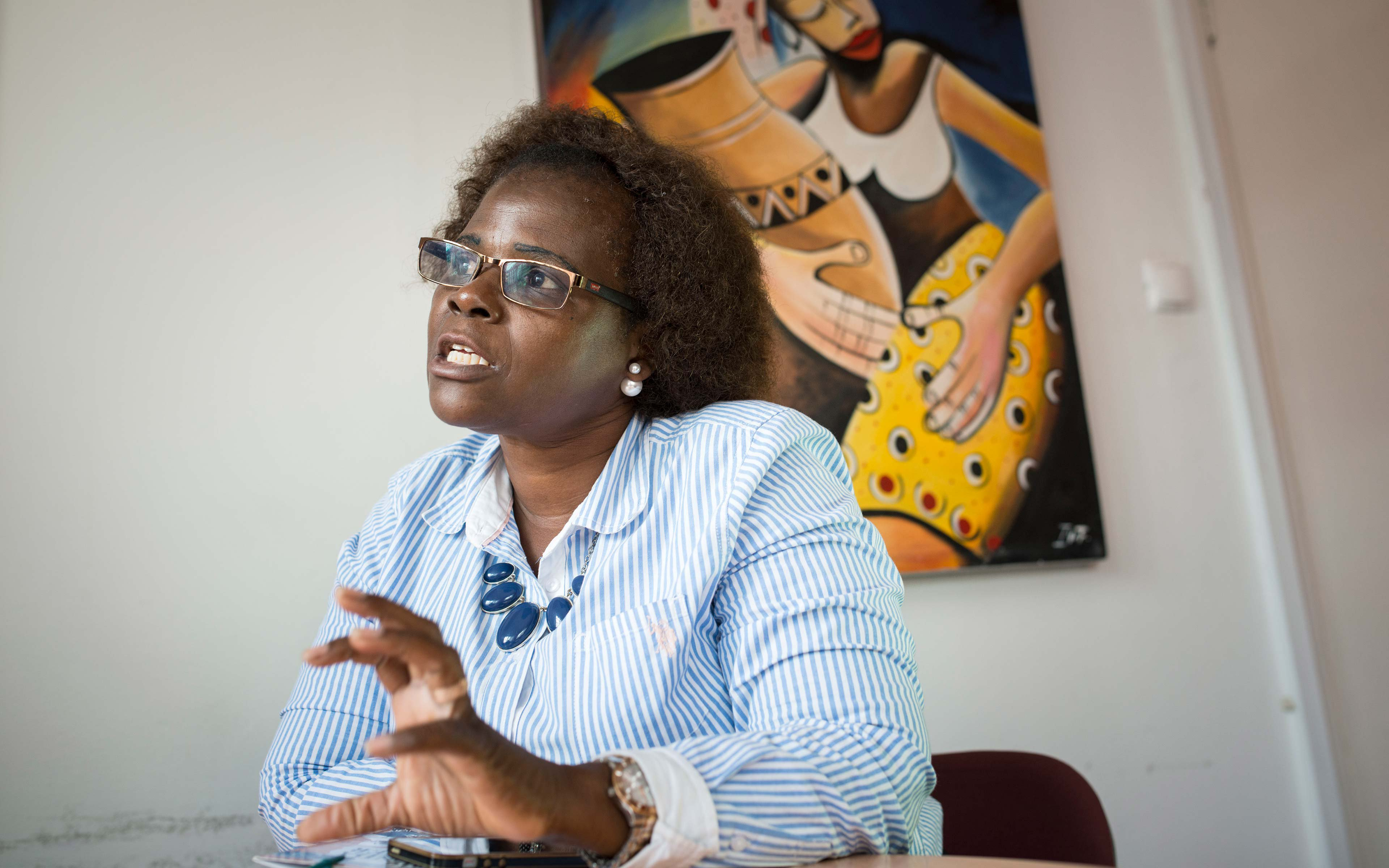 Oxfam partner Graҫa Julio works at Forum Mulher in Maputo and has been involved in the campaign to promote and defend the rights of women in Mozambique for more than 20 years.