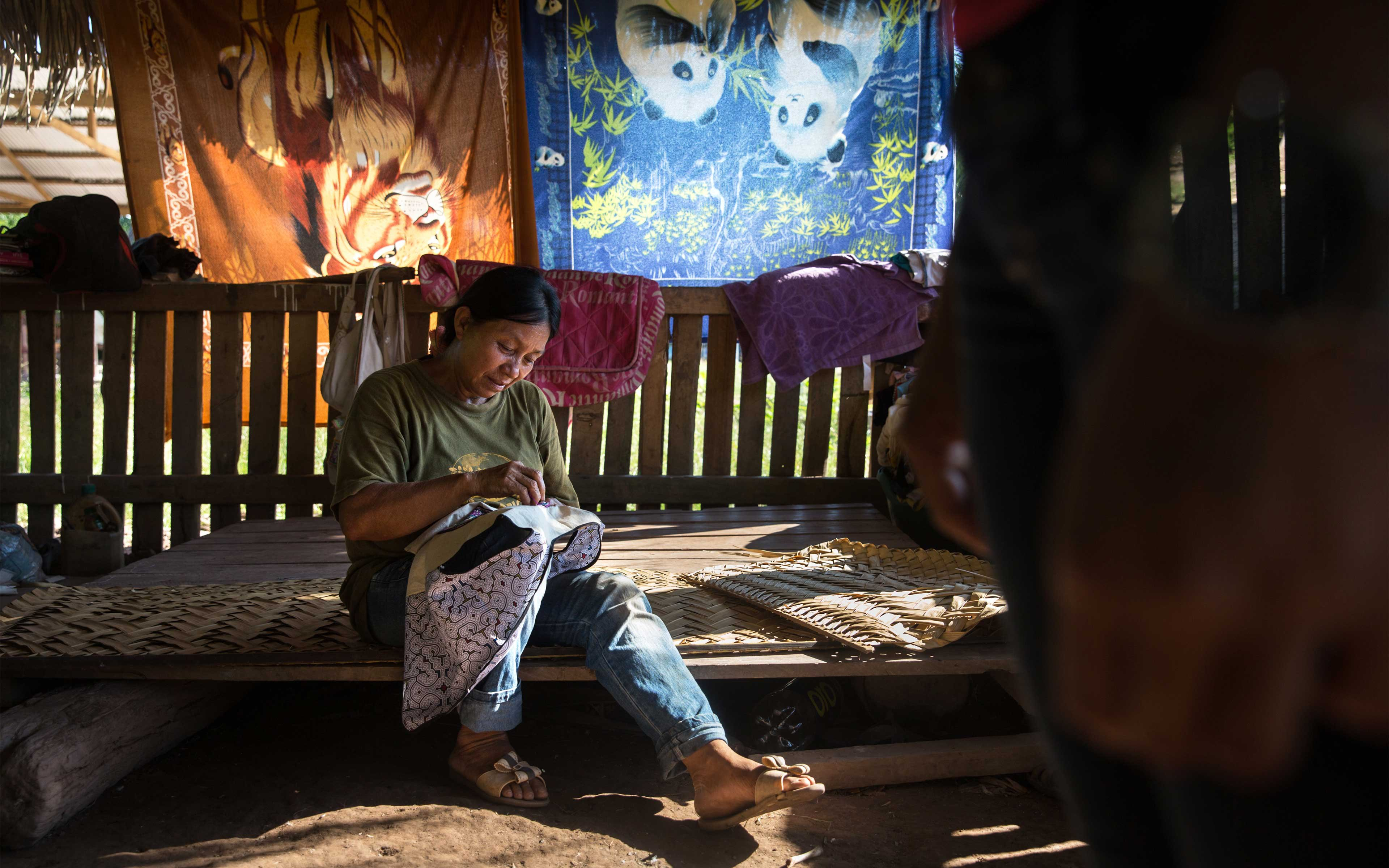 """Luisa Mori Gonzalez, 53, is a widow with three daughters and two granddaughters and one of the women leaders in Santa Clara de Uchunya. She says excluding families from nearby forest areas is creating problems: """"We're worried, where are we going to get our food? The forest was our market. How are we going to feed our kids?"""